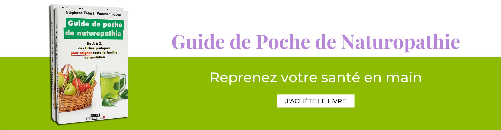 Banniere livre Guide de poche de la naturopathie